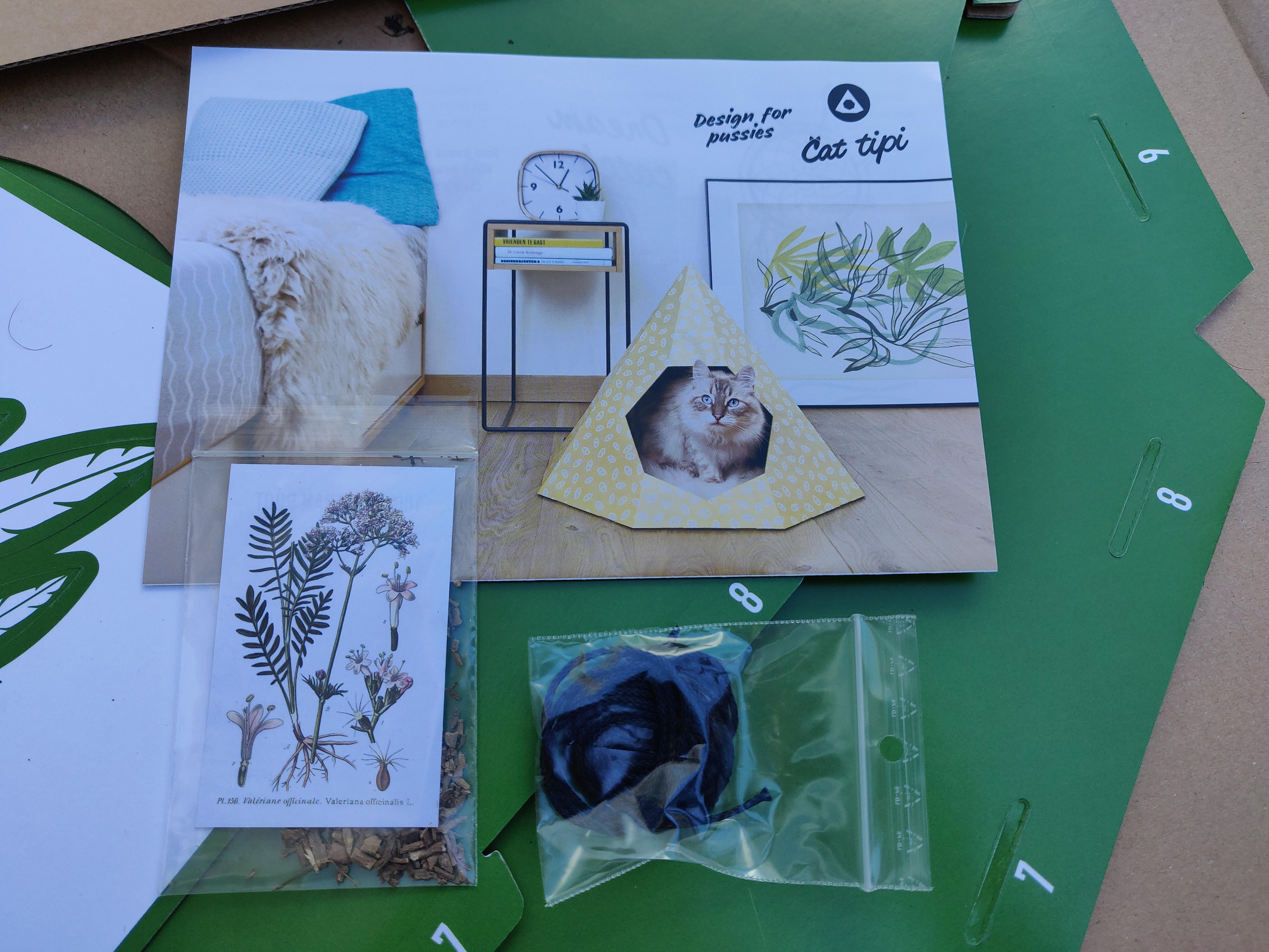 Tipi en carton pour chat - La Box Naturelle 1