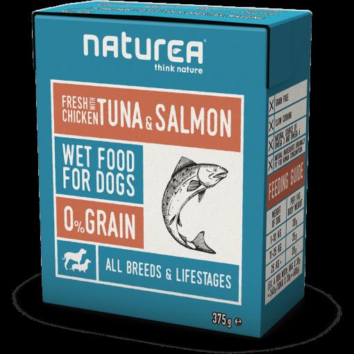 Pâtée au thon et saumon pour chien - Naturea