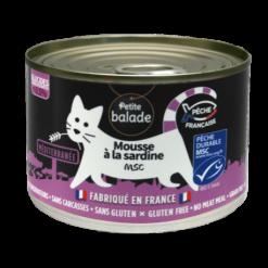 Mousse de sardine pour chat
