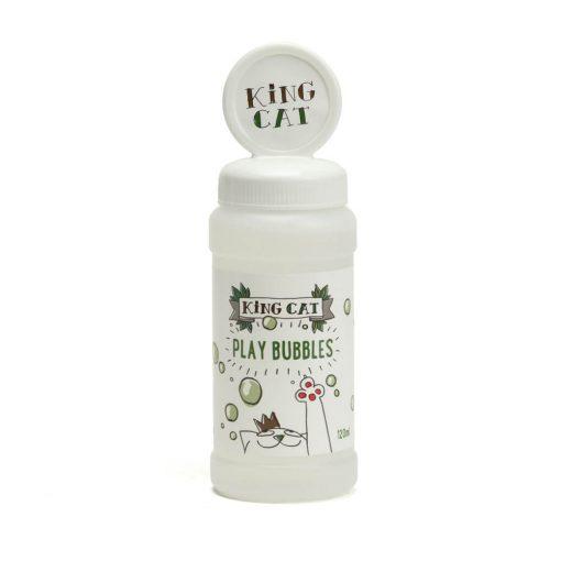 Produit à bulles à l'herbe à chat